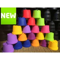20 x COLOURED 3 LITRE PLANT POTS