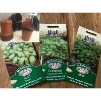 HERB STARTER KIT                                                       (100 x 9CM POTS & 3 x MR FOTHERGILL'S HERB SEEDS)