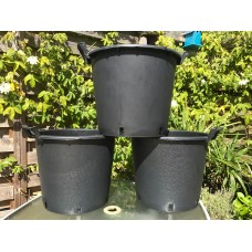 Heavy Duty 30 Litre Tree Planting Pots with Handles x3