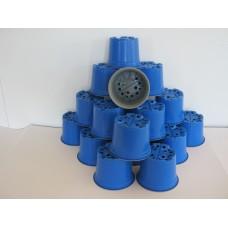 50 x BLUE COLOURED 12CM PLANT POTS