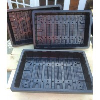 20 X FULL SIZE ECONOMY SEED TRAYS (WITH DRAINAGE HOLES)