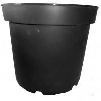 20 X 7 1/2 Litre Black Plastic Plant Pots