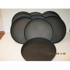 10 x 40cm Round Black Plastic Plant Pot Saucers